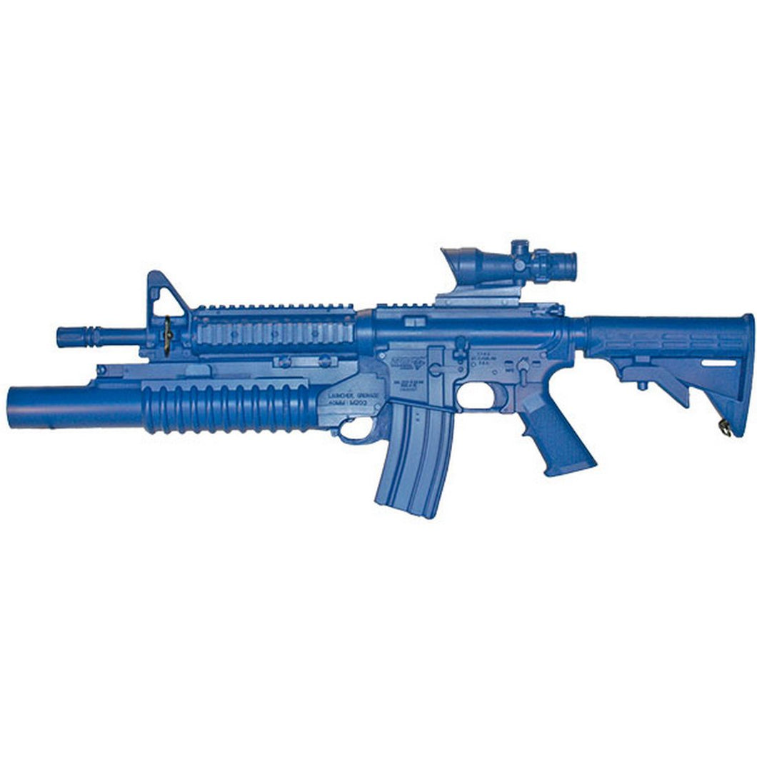 Blueguns FSM4CFTRCSM203ACOG M4 COMMANDO Flat Top Closed Stock, Fwd Rail, M203 Grenade Launcher, ACOG