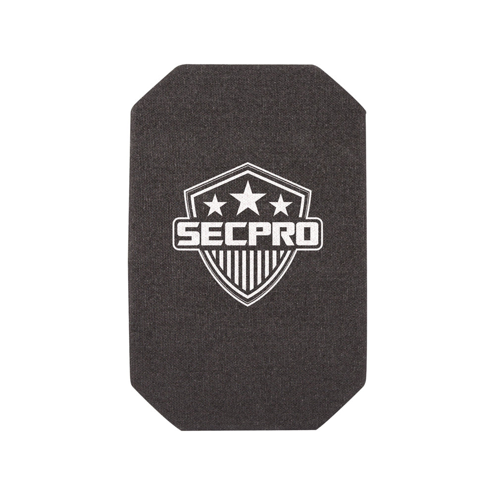 SecPro Level III Ceramic & Composite Single Curve Full Cut Hard Armor Side Plate