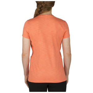 5.11 Tactical 61306 Women's Zig Zag V-Neck Coral