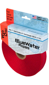 "Bluewater 1"" Tubular Climb Spec x 30 Ft. Web Dice Red"