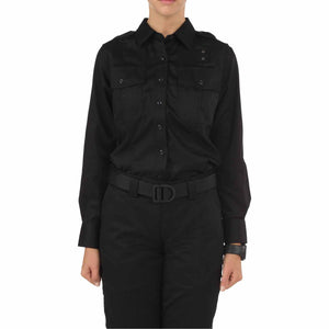 5.11 Tactical 62064 Women's Twill PDU Class-A Long Sleeve Shirt Black