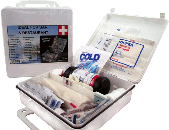 Elite First Aid FA112 - White Series Kit 24 Unit - White