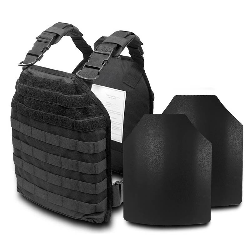 SecPro Rapid Response Kit Bulletproof Vest Plate Carrier Tactical Ballistics - Black