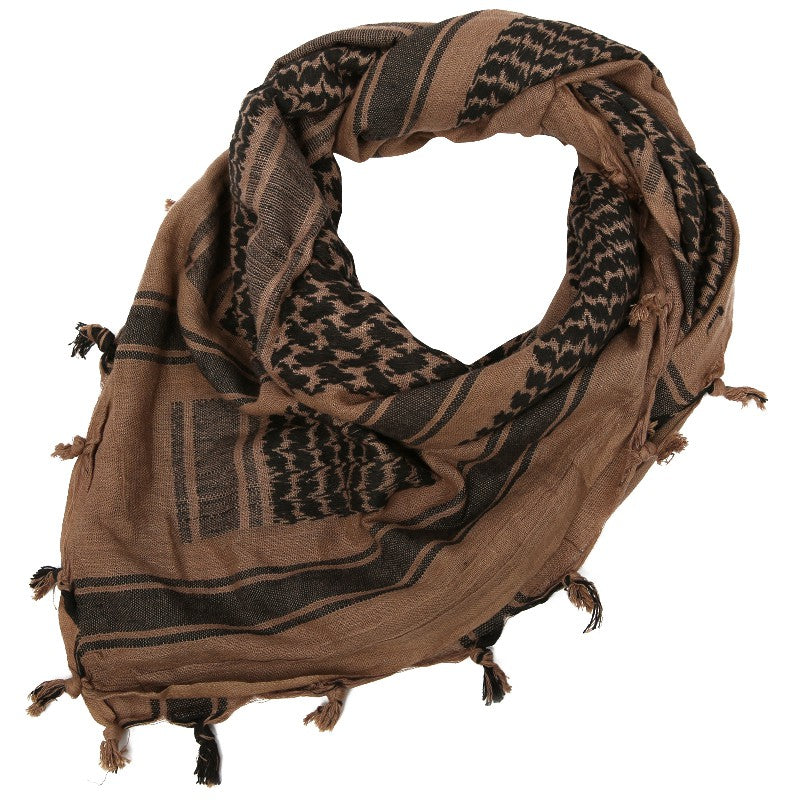 "Rebel Tactical Shemagh Tactical Military Scarf 42""x42"" Heavy Weight Desert - Black"