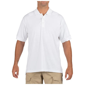 5.11 Tactical 71182 Men Tactical Jersey Short Sleeve Polo White