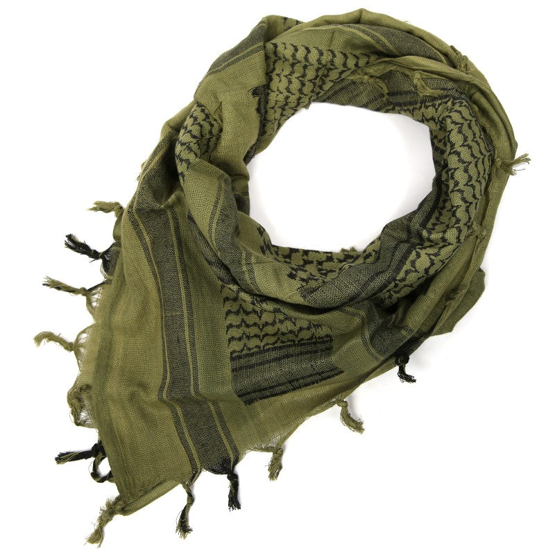 "Rebel Tactical Shemagh Tactical Military Scarf 42""x42"" Heavy Weight Desert - OD Green"