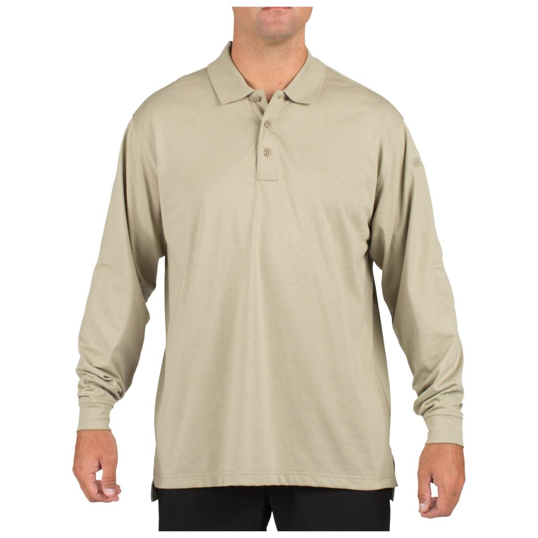 5.11 Tactical 72360 Men Tactical Jersey Long Sleeve Polo Silver Tan