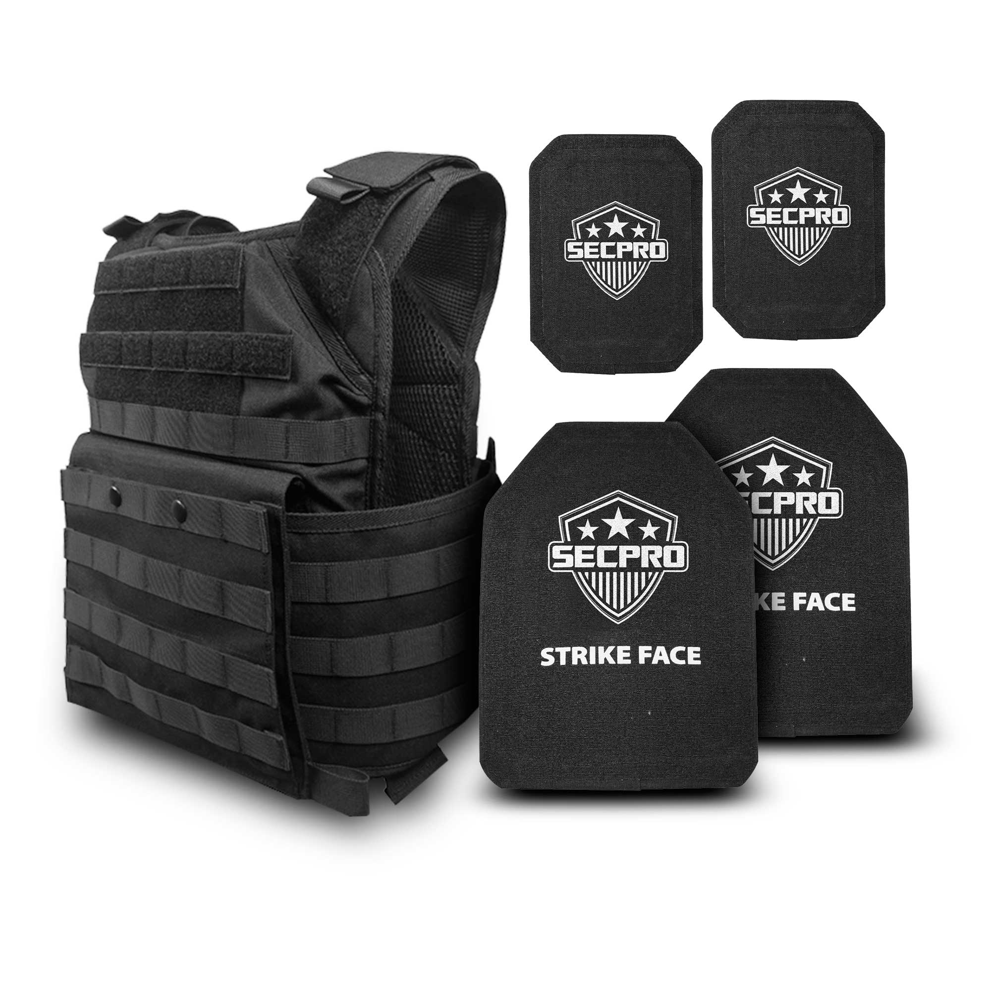 SecPro Deluxe Shooter's Package - Spartan Plate Carrier w/ Level IV Torso and Side Plates