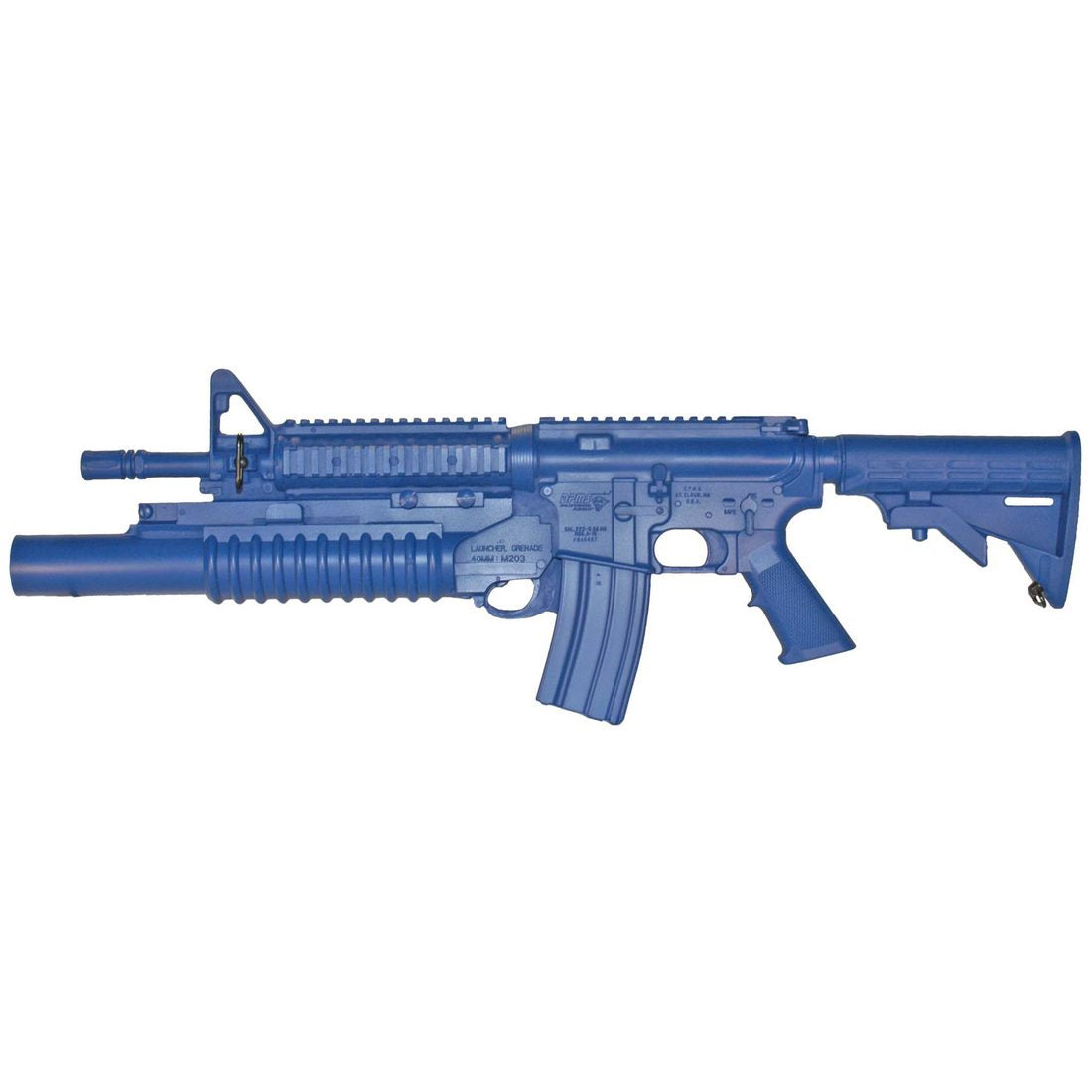 Blueguns FSM4CFTRCSM203 M4 COMMANDO Flat Top Closed Stock, Fwd Rail, M203 Grenade Launcher