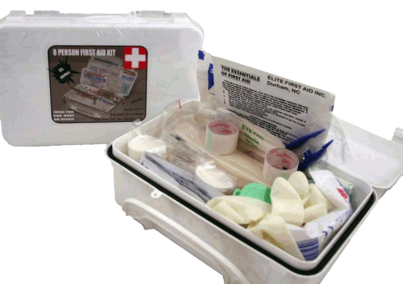 Elite First Aid FA114 - White Series Kit 8 Unit - White