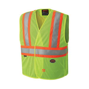 Flame resistant high-visibility vest