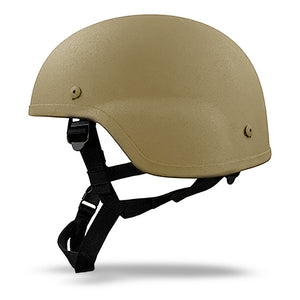 mich combat helmet - Tan Side