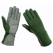 Secpro Tactical Cold Weather Nomex Pilot Flight Fleece Lined Gloves - OD