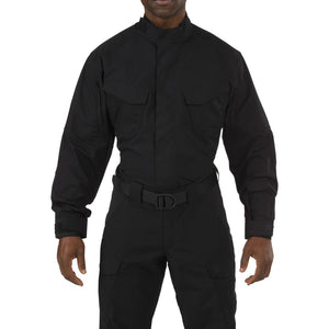 5.11 Tactical 72416 Men Stryke TDU Long Sleeve Shirt Black Reguler - Small