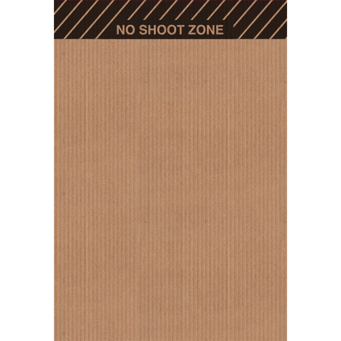 "24"" x 35"" Cardboard Target Backer (No Shoot Zone, 100 Pack)"