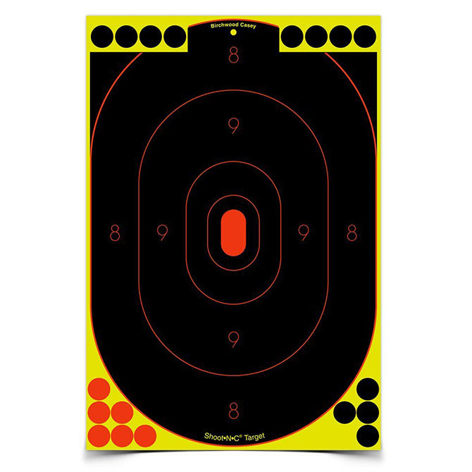 "Action Target Shoot-N-C 12"" x 18"" Silhouette, 100 Targets - 1800 Pasters"