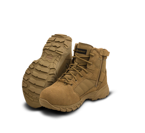 "Smith & Wesson Tactical Police Boots - Breach 2.0 6"" Side Zip Boots - Coyote"