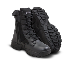 "Smith & Wesson Tactical Police Boots - Breach 2.0 8"" Side Zip Waterproof Boots - Black"