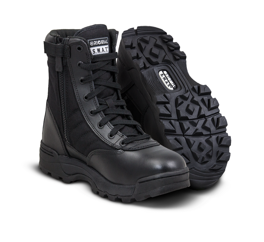 "Original SWAT Tactical Police Boots - Classic 9"" Side-Zip Boots"