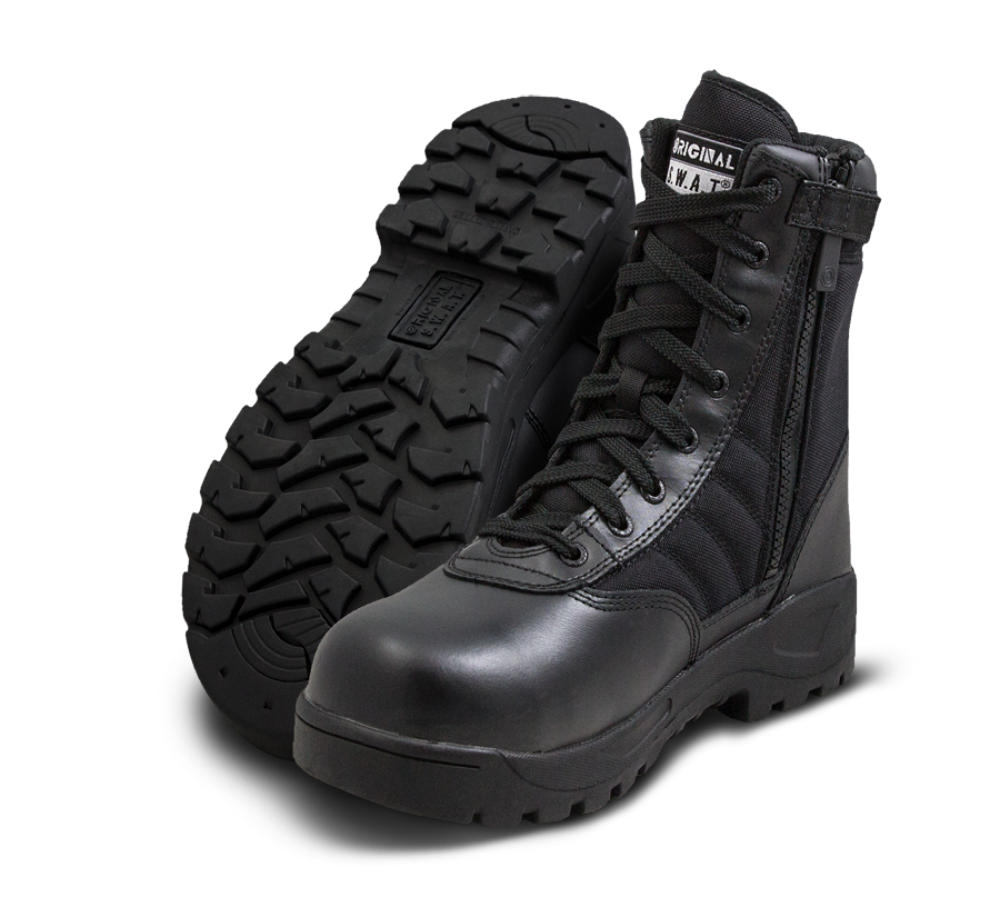 "Classic 9"" Side Zip Safety Plus Boots - Black"