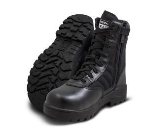 "Original SWAT Tactical Police Classic 9"" Side Zip Safety Plus Boots - 116001 - Security Pro USA"