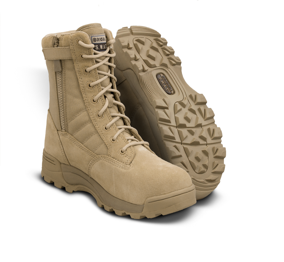 "Classic 9"" Side Zip Safety Plus Boots - Tan"