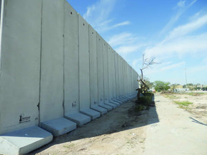 Modular prefabricated concrete wall