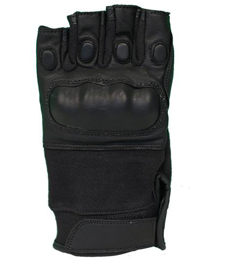 SecPro Warrior Touch Hard Knuckle Leather Gloves (Black)