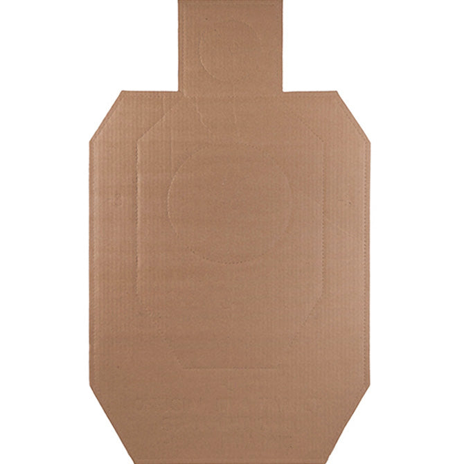 Official IDPA Cardboard Torso Target (100 Pack) SHIPS FREE