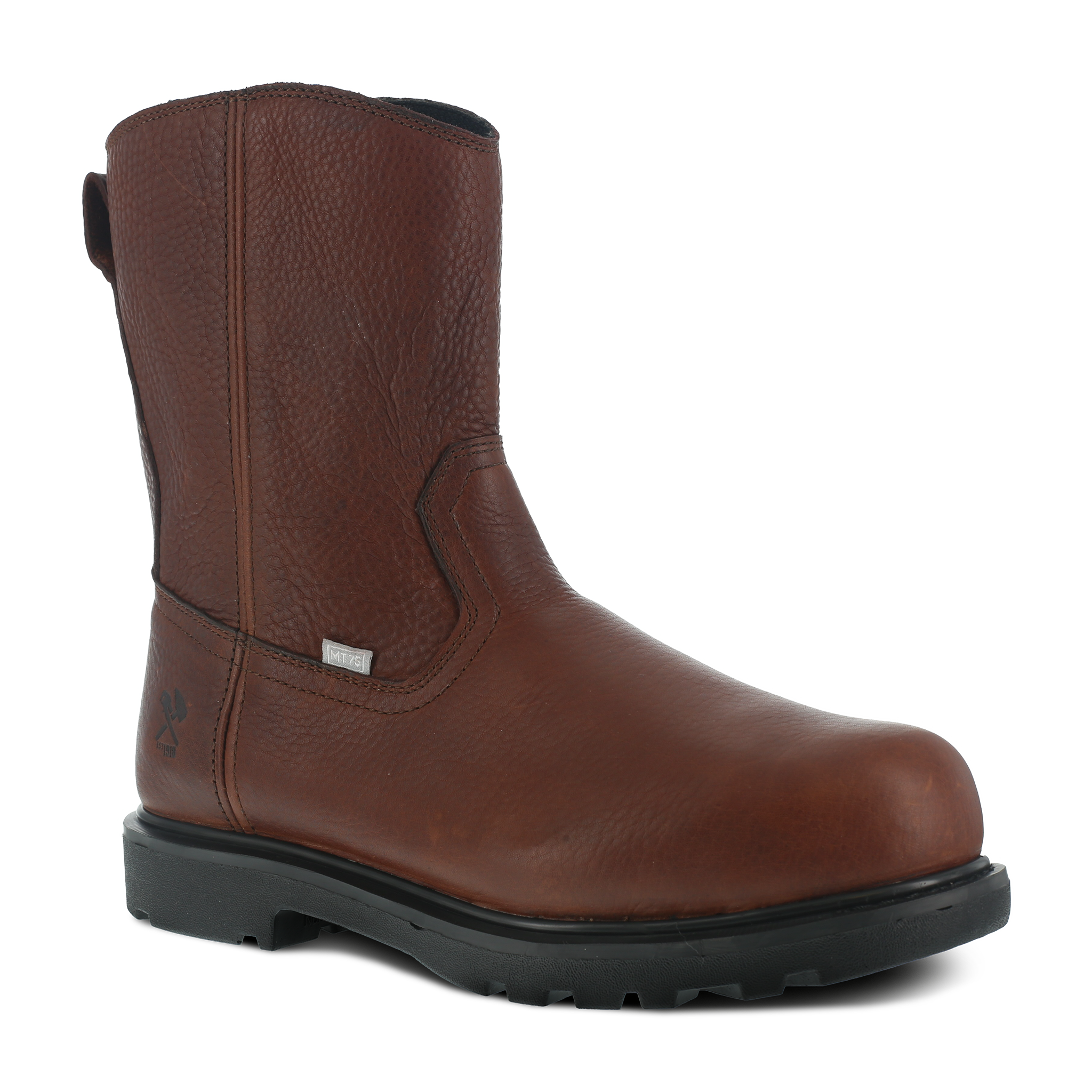 "Iron Age Men's Hauler 10"" Wellington Work Boot with Flex-Met® Internal Met Guard and Side Zipper - IA0195"
