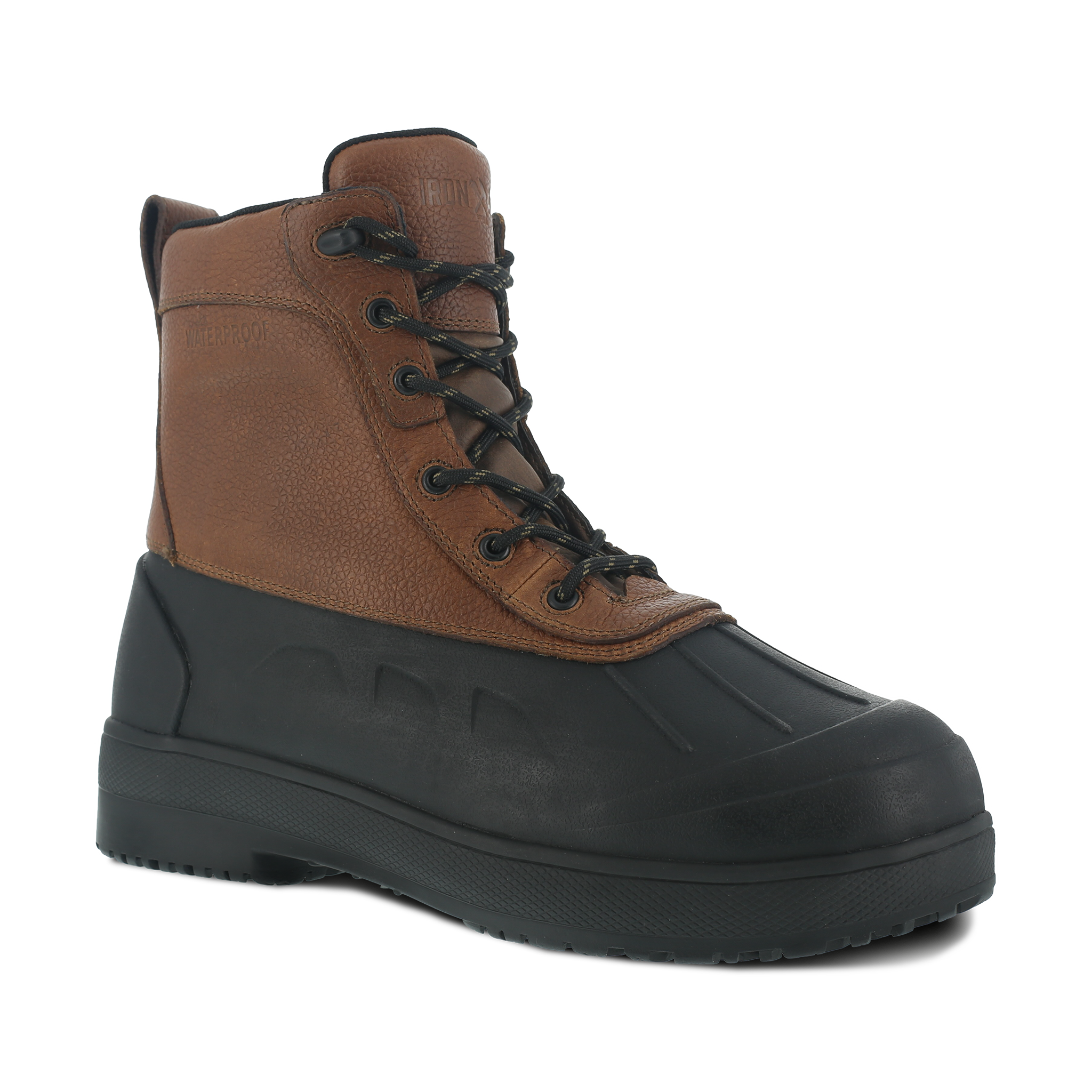 Iron Age Men's Rubber Vamp and Leather Shaft Waterproof Work Boot - IA9650