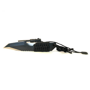 SecPro Tactical Knife w/Paracord and Fire Starter