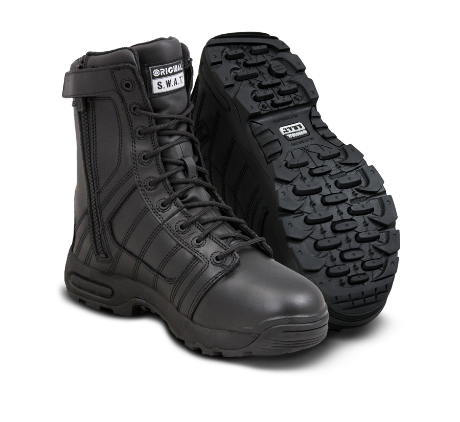 "Original SWAT Tactical Police Boots - Metro Air 9"" Men's Side Zip 200 Boots"