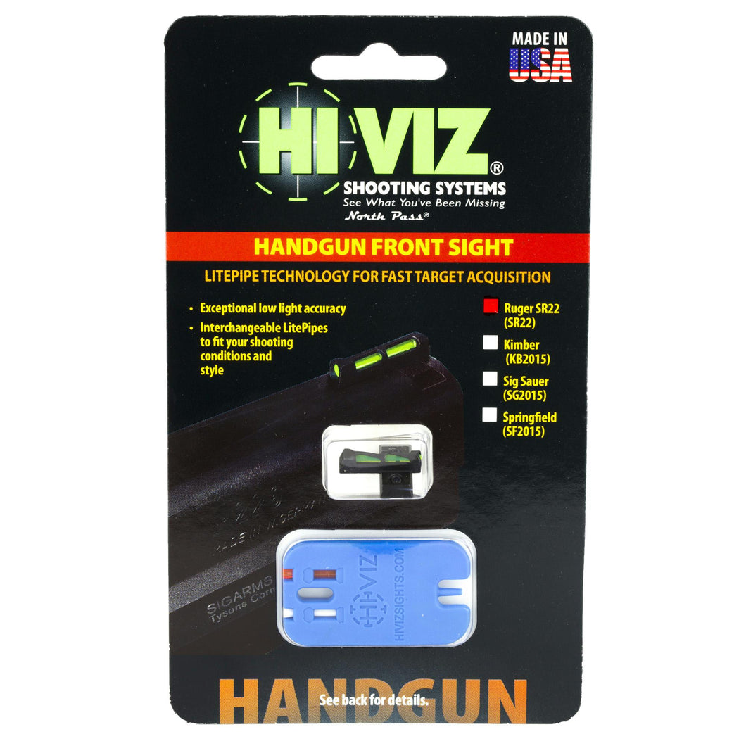 Hiviz Litewave Frnt Sight Rug Sr22