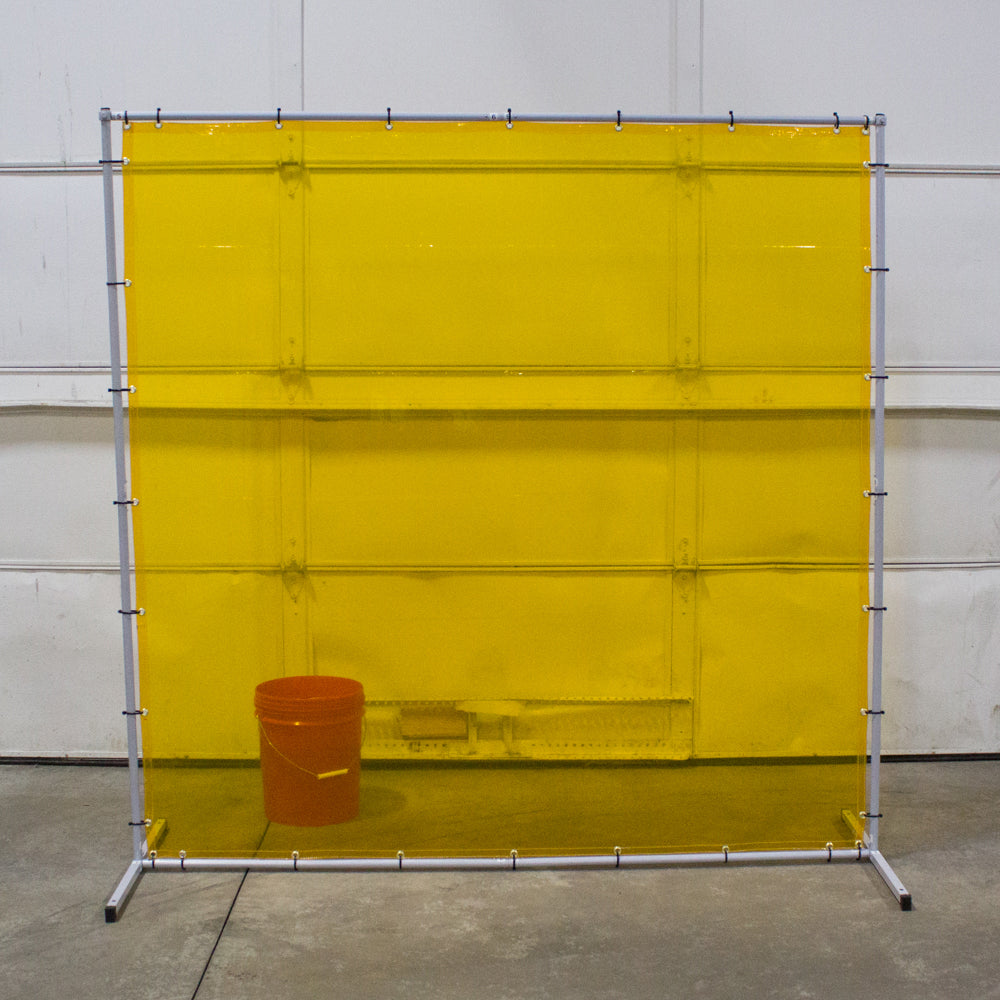 Premium Premium Welding Curtain and Frame Combo Yellow