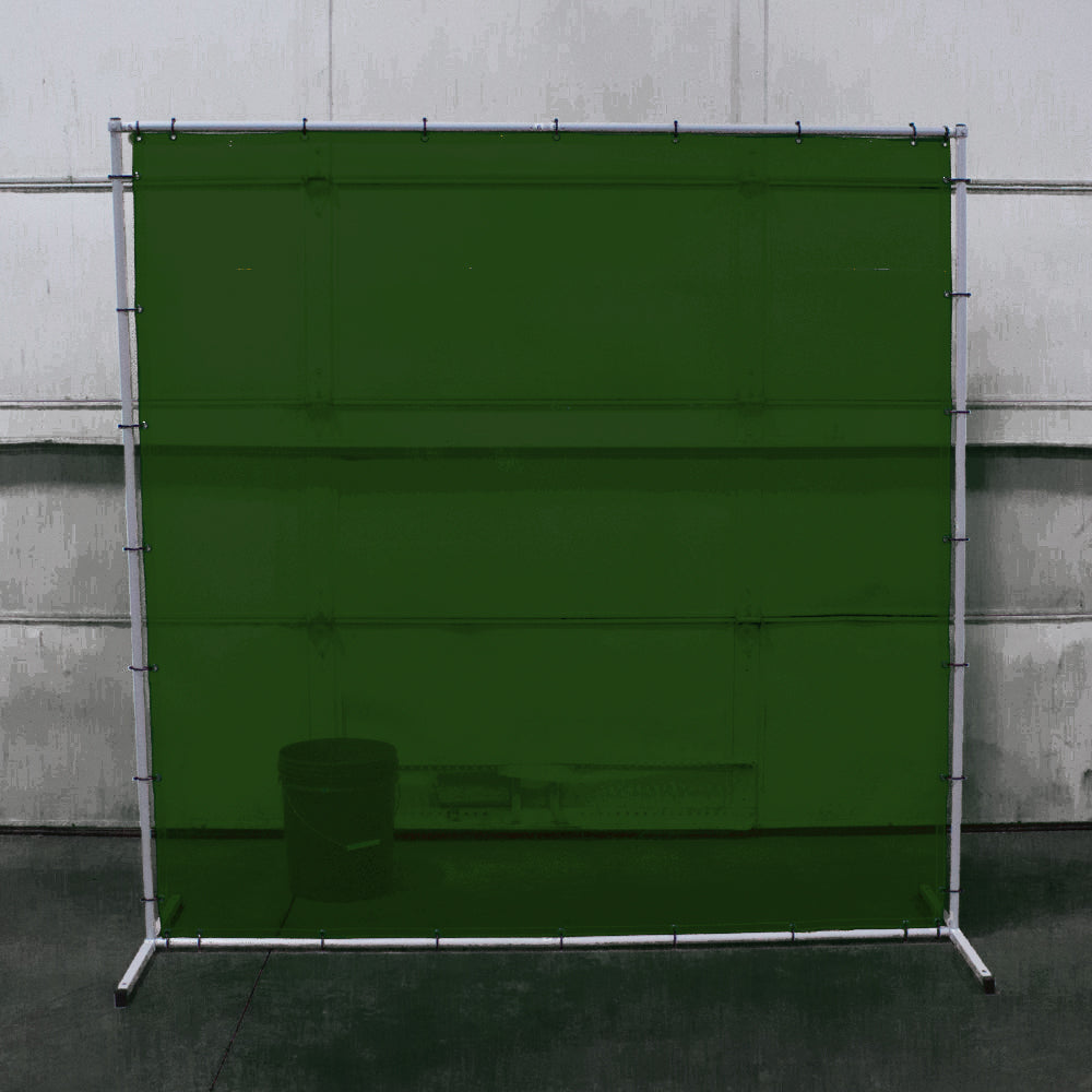 Premium Welding Curtain and Frame Combo Green