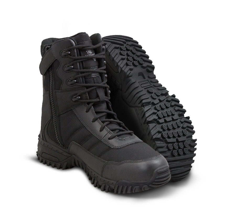 "Vengeance SR 8"" Side Zip Boots - Black"