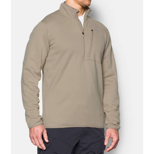 Under Armour 1262441 Storm TAC ¼ Zip Men's Tactical Long Sleeve - MD - Desert sand
