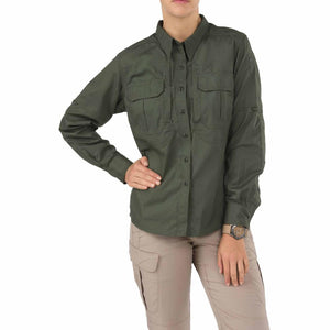 5.11 Tactical 62070 Women's Taclite Pro Long Sleeve Shirt TDU Green