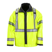 5.11 Tactical 48125 Men Reversible Hi-Vis Rain Coat Black