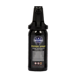 SecPro Compact High Intensity Cone OC Pepper Spray - Level III Cone Fogger - 1 oz.