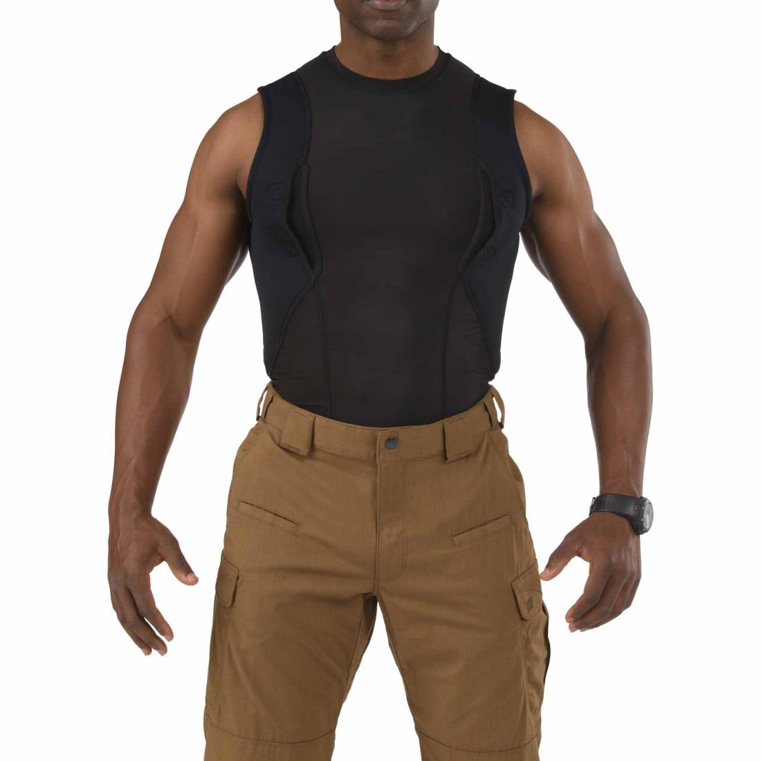 5.11 Tactical 40107 Men Sleeveless Holster Shirt Black