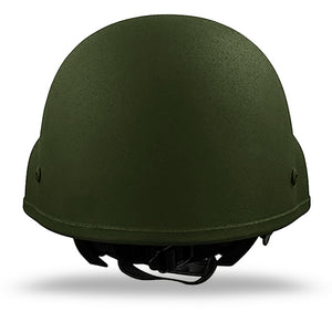 Ballistic Level IIIA Helmet- OD Green Rear