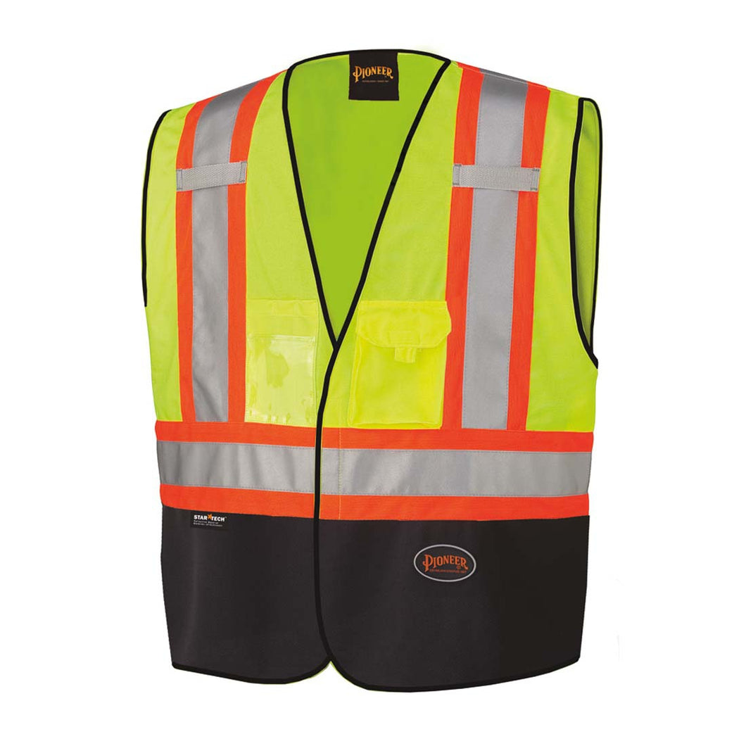 Pioneer Hi-Viz Safety Vest With Black Bottom