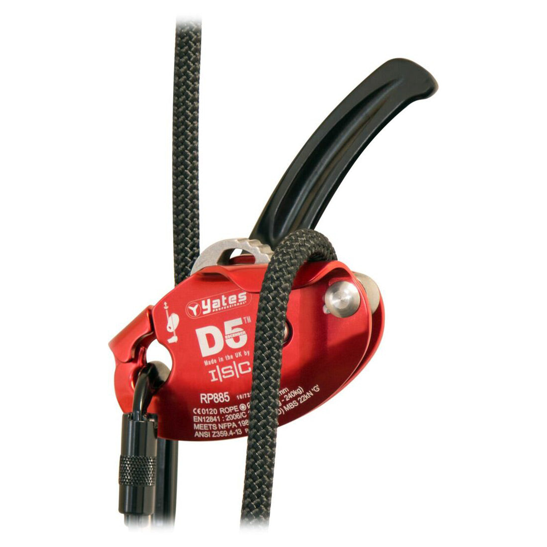 Yates ISCD5 Descender/Belay Device Red