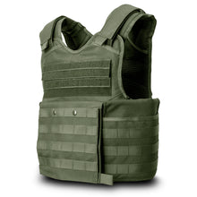 SecPro Gladiator Tactical Vest Level IIIA - OD Green (Front)