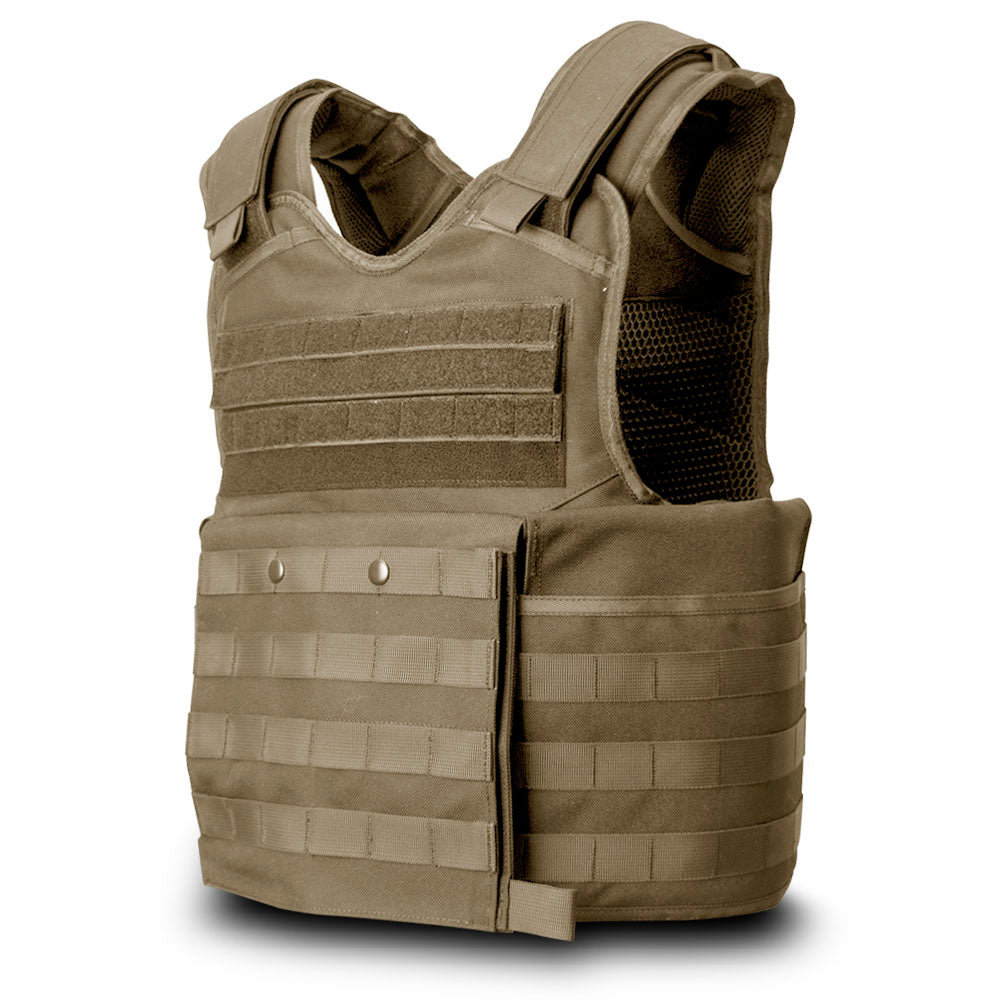 SecPro Gladiator Tactical Vest Level IIIA - Coyote (Front)