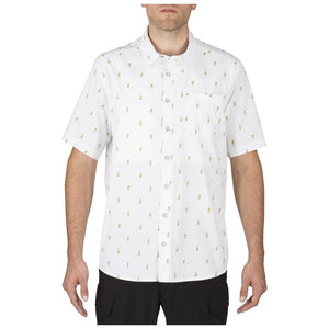 5.11 Tactical 71357 Men Five-o Covert Shirt White