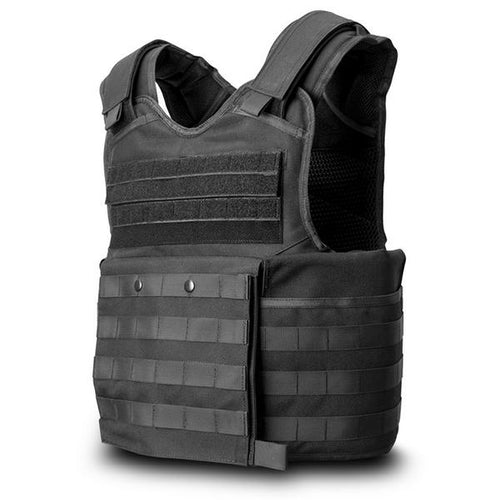 SecPro Gladiator Tactical Bulletproof Assault Vest Tactical Ballistic - Black