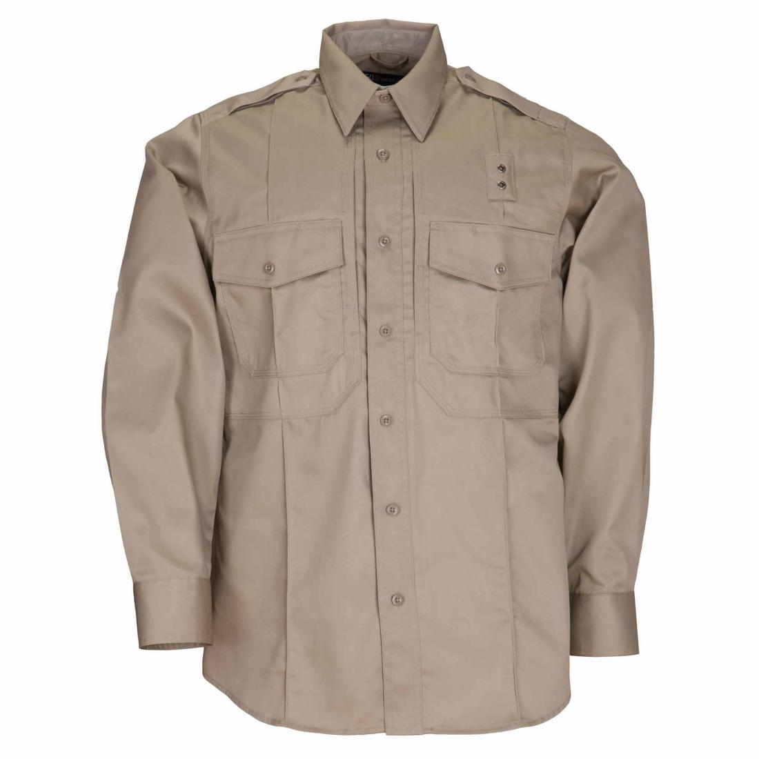 5.11 Tactical 72345 Men Twill PDU Class- B Long Sleeve Shirt Silver Tan